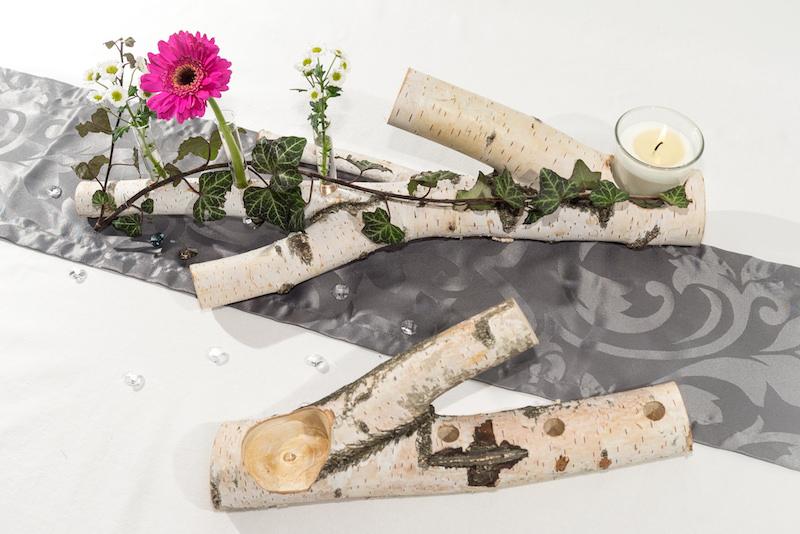 Tischdekoration aus birke for Tischdeko birke