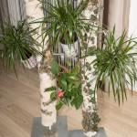 Birkensteher mit Blumen Dekoration